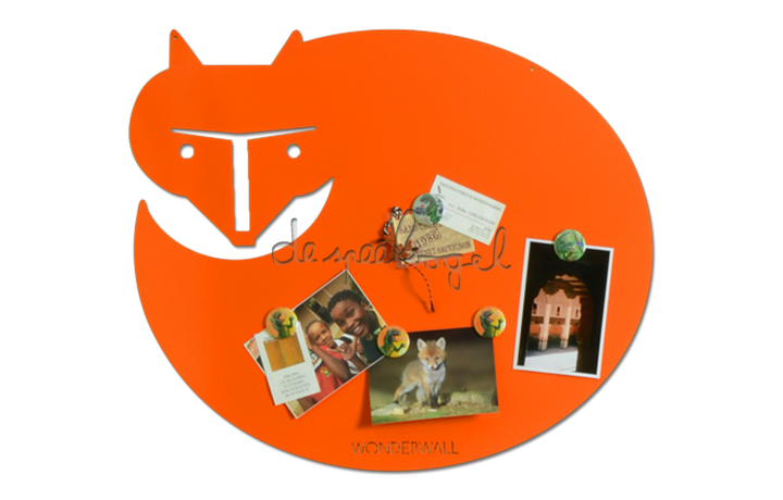 Magneet Vos (Oranje) 37 mm
