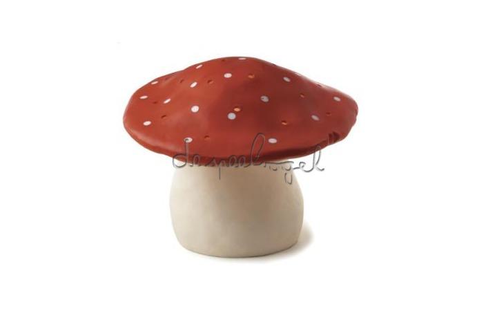 nachtlamp grote paddenstoel rood