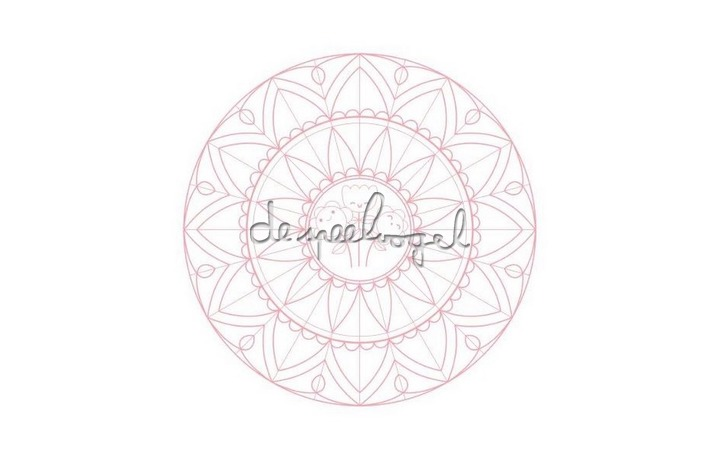GY027 Graffy Pop Mandala, roze