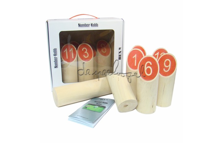 511100 Number Kubb Basic berkenhout in colourbox