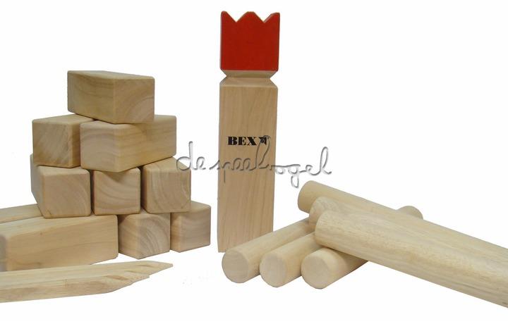 5110111 Kubb Viking Original Rode Koning rubberhout