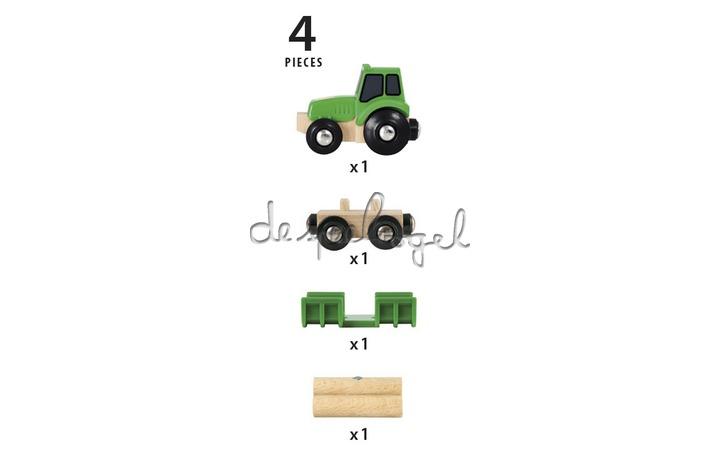 33799 Traktor met aanhangwagen