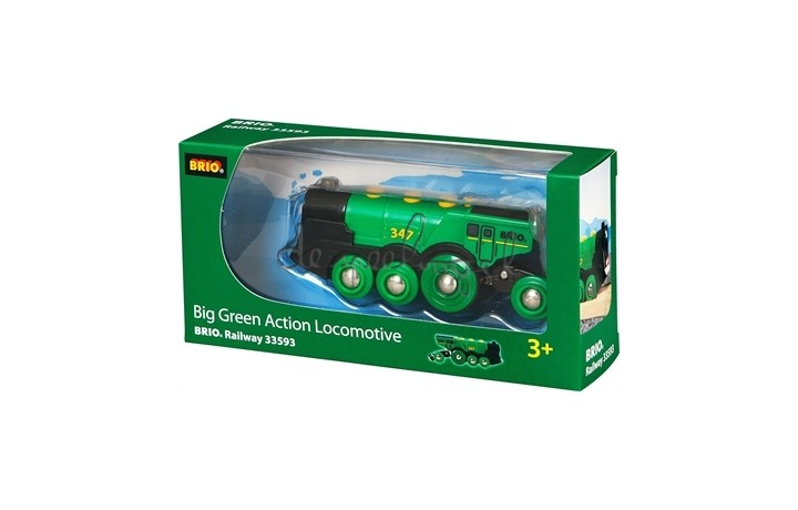 33593 krachtige groene locomotief