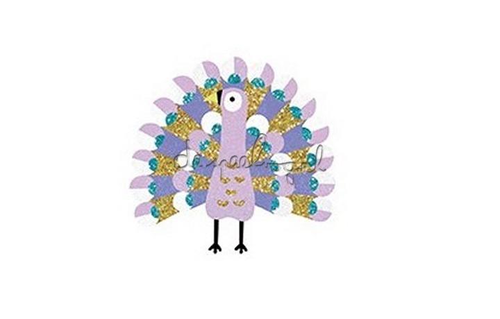 DJ08663 Gekleurd glitterzand vogels