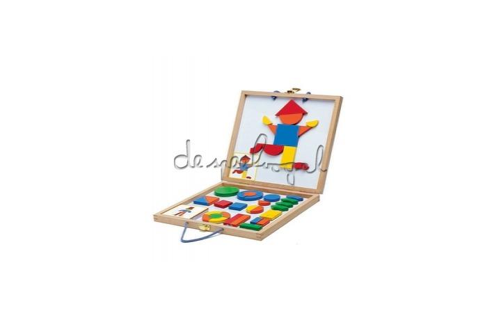 DJ03130 magneetspel in houten koffer