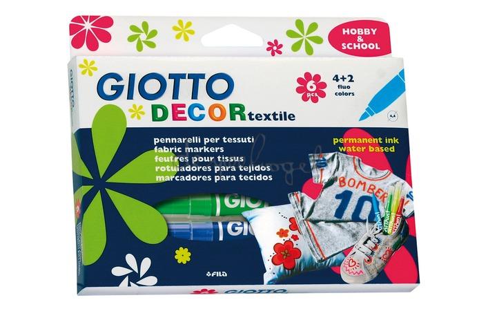 Doosje met 6 stiften Giotto Decor Textiel