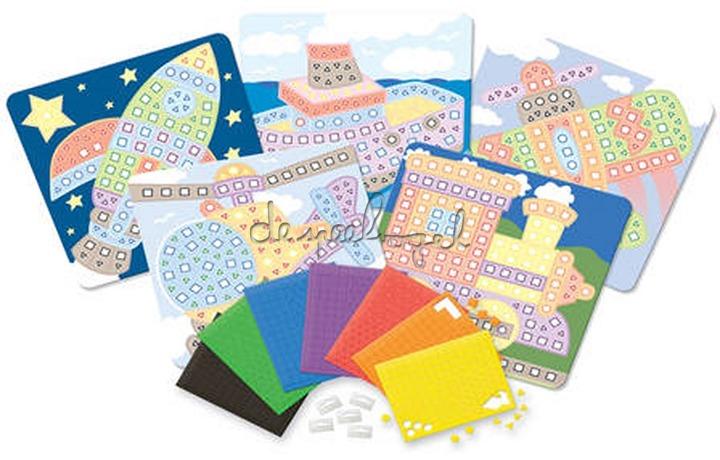 62576 My First Sticky Mosaics Voertuigen