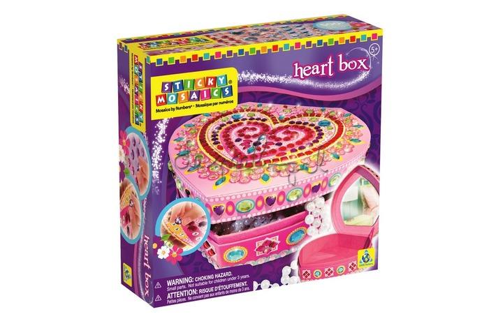 62897 Sticky mosaics juwelendoosje hartjes