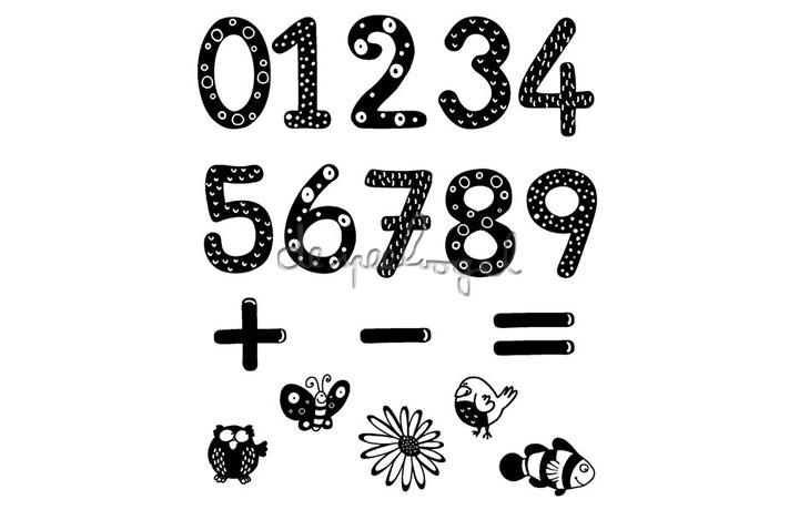 85110 grote stempels cijfers