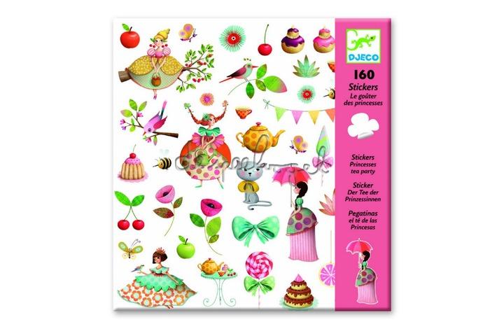 Dj08884 Stickers, thee drinken met prinsessen