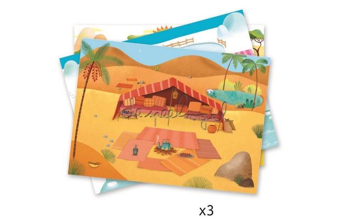 DJ09560 Krasfiguren Savane, woestijn en noordpool