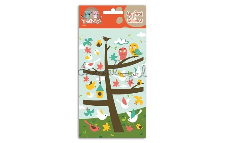 My first stickers, vogeltjes
