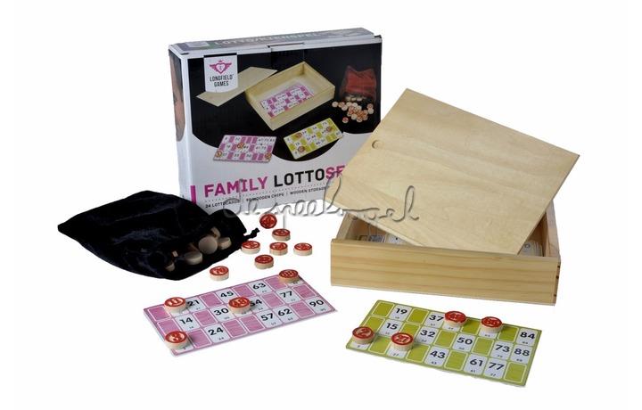 360570 Lottoset in houten doosje