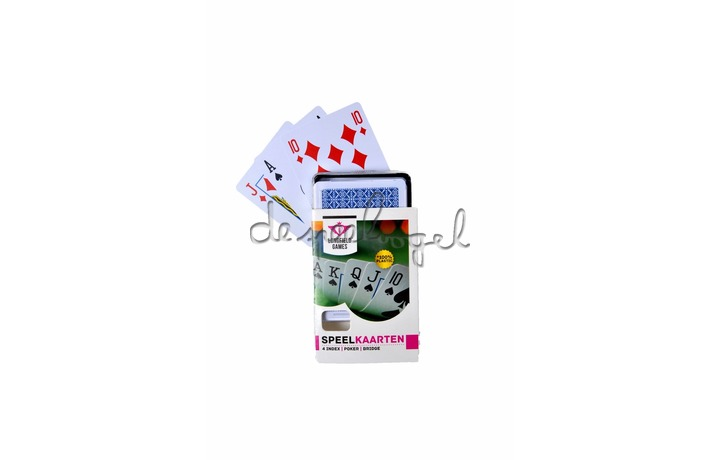390114 Longfield 100% plastic speelkaarten