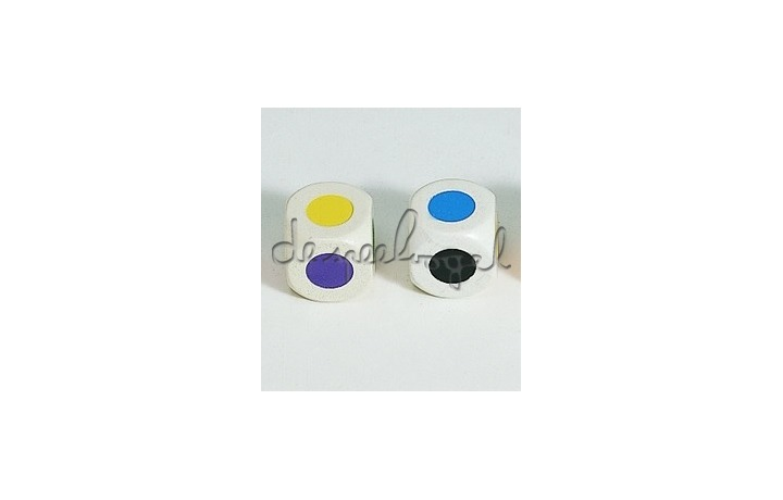 Kleuren dobbelsteen Hout 16 mm