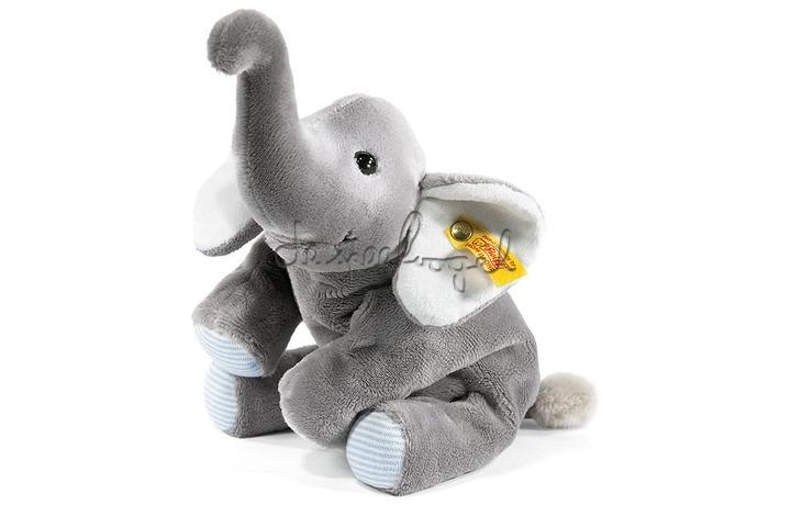 281259 Steiff Little Floppy Trampili elephant, grijs