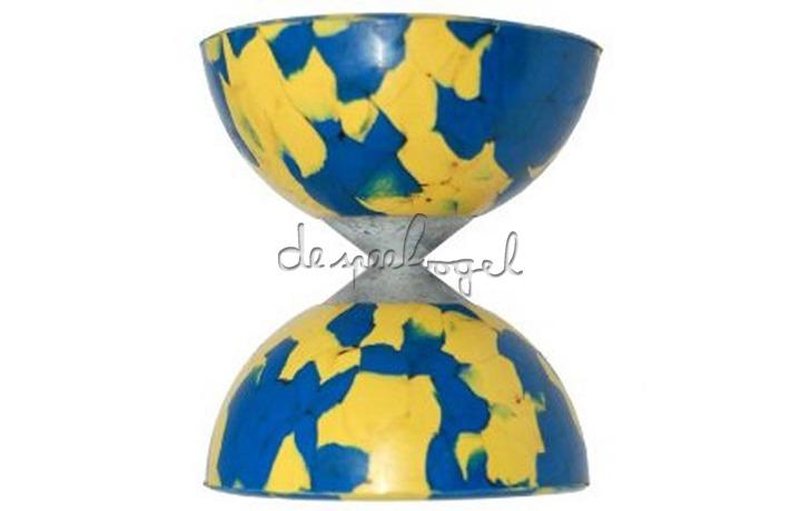 Diabolo harlequin geel/blauw