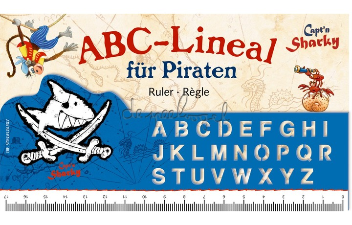 12548 Lineaal ABC Capt'n Sharky