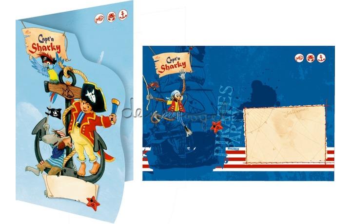 13253 Uitnodigingskaarten Capt'n Sharky
