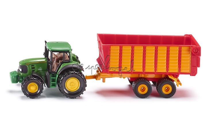 1650 Tractor John Deere met remorque