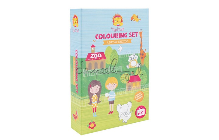 3760214 Colouring Sets A Day at the Zoo (New)