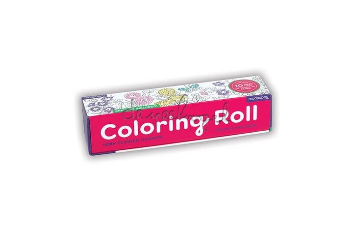 354868 Mini Coloring Roll Flower Garden