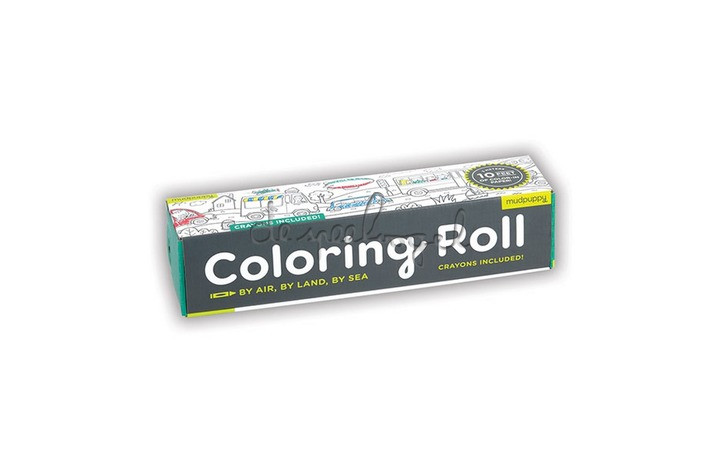 354867 Mini Coloring Roll By Air, Land & Sea