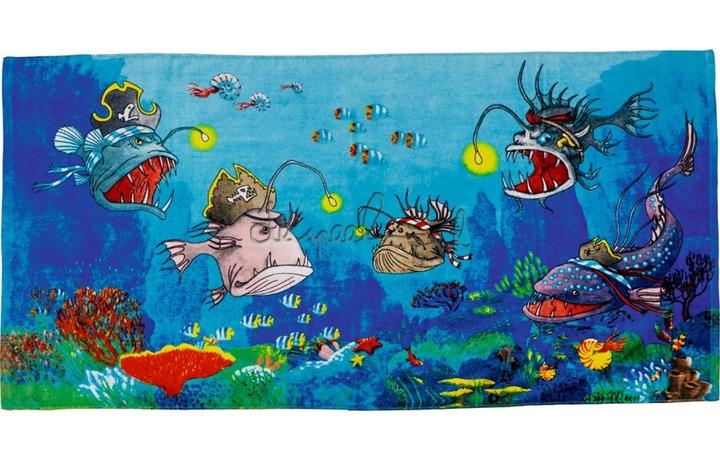 13734 Magische badhanddoek Capt´n Sharky