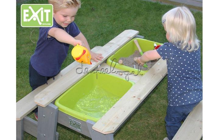 EXIT Aksent Zand-,Water- en Picknicktafel L (2 bankjes) (FSC 100%)