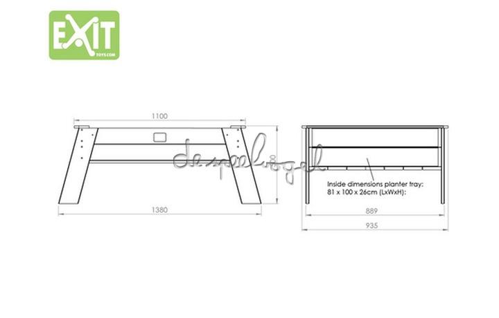 EXIT Aksent Zandtafel XL (FSC Mix 70%) /op bestelling