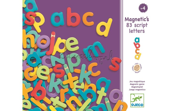 DJ03102 Magnetische geschreven letters, 83 st
