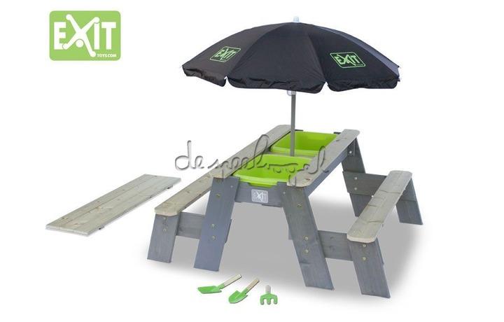 EXIT Aksent Zand-,Water- en Picknicktafel L (2 bankjes) DELUXE (100% FSC)