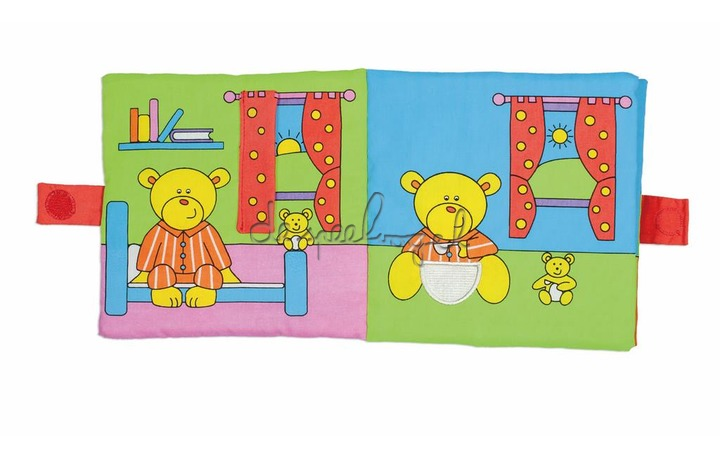 1004876 First Years - Large Soft Book - Teddy's Day