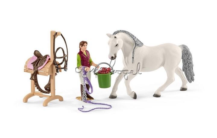 42389 Ruiterschool Met Ruiter En Paarden