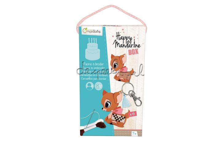 KC005 Happy Mandarine Box, Hertjes om te borduren