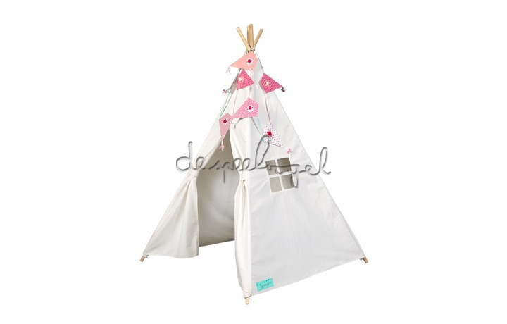 104275 Tipi tent off wit canvas