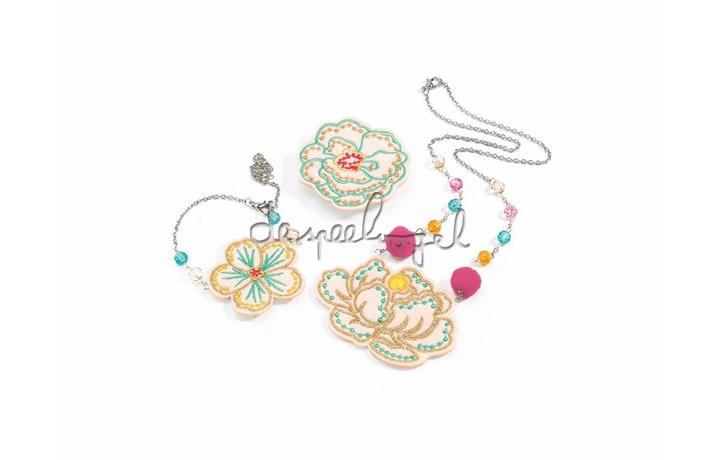 DJ06673 Juwelenset - brodés fleurs