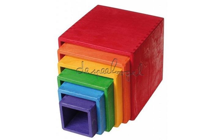 10370 Grimm's Grote set houten dozen, gekleurd