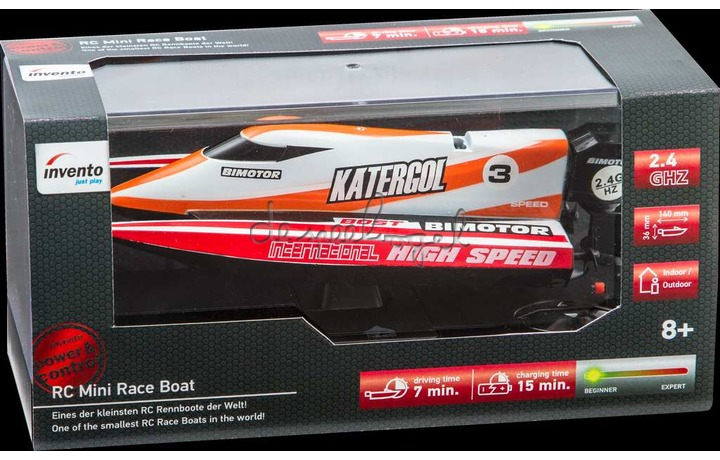 500804 RC Mini Speed Boat Red- 2.4 GHz