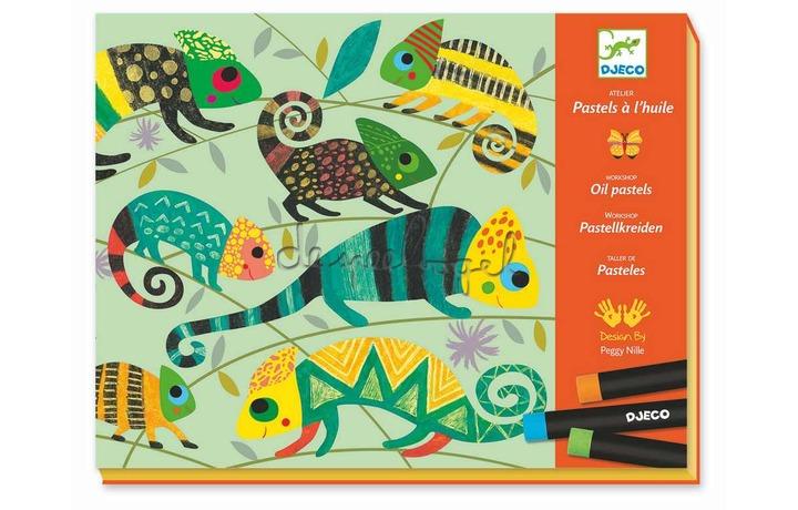 DJ08618 Jungle colorée, kleuren met pastelstiften