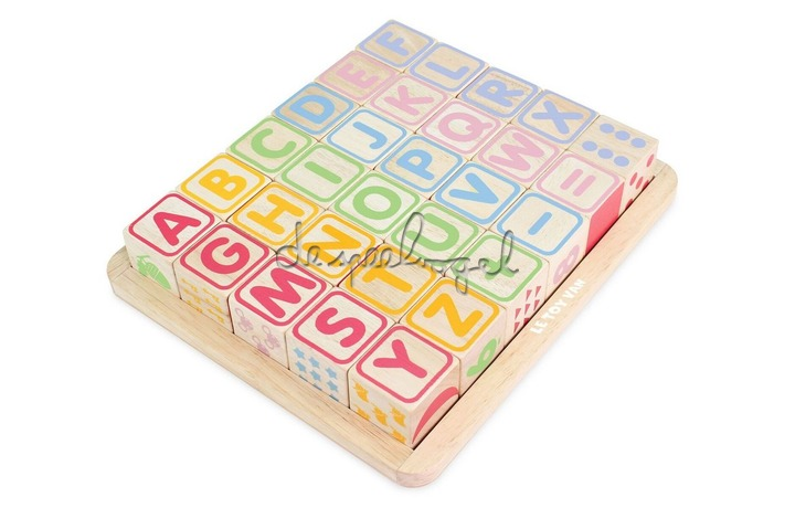 PL101 ABC, houten blokken
