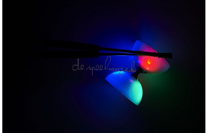 515729 Acrobat Led Light Diabolo + aluminum handstokken