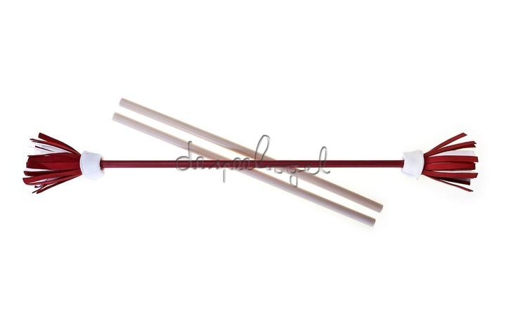 515764 Acrobat Flower Stick ROOD, white/red/white flower + handstokken