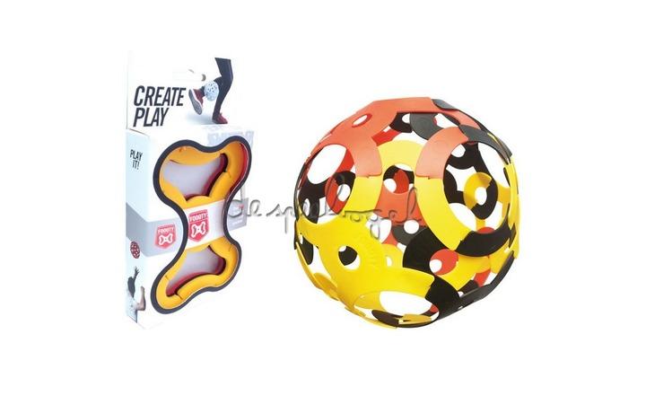 Foooty Pack Reisvoetbal Zwart/Geel/Rood
