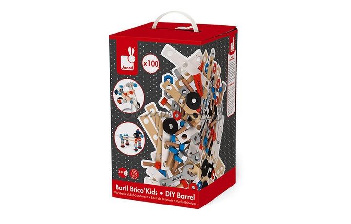 J06479 Koffer Brico'Kids 100 Onderdelen