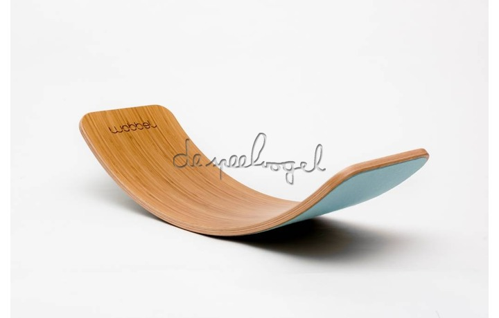 Wobbel Original Bamboe vilt Lucht blauw