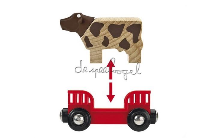 33879 Boerderij speelset, boer met koe