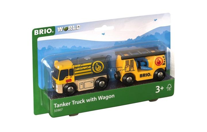 33907 Tankvrachtwagen met aanhangwagen