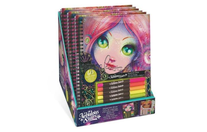 11112 Nebulous Stars Kleurboek wit-glitter
