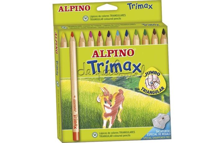 510061 Doosje 12 kleurpotloden Alpino Trimax